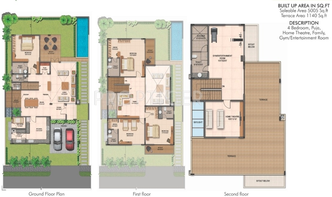5005 sq ft 4 bhk 6t villa for sale in fortune group kosmos for 4 bhk villas in bangalore