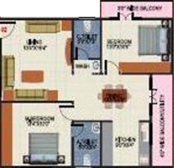 SV Mayfair (2BHK+2T (1,323 sq ft) 1323 sq ft)