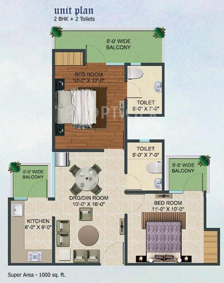 1000 sq ft 2 bhk 2t apartment for sale in supertech fable for 1000 sq ft 2bhk house plans