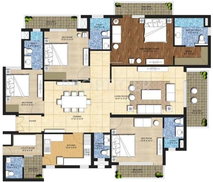 Indiabulls Centrum Park (4BHK+5T (2,897 sq ft) + Servant Room 2897 sq ft)