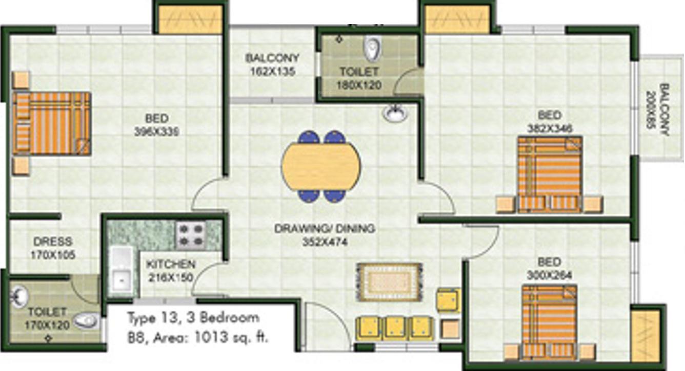 Galaxy emerald in elamkulam kochi price location map for Emerald homes floor plans