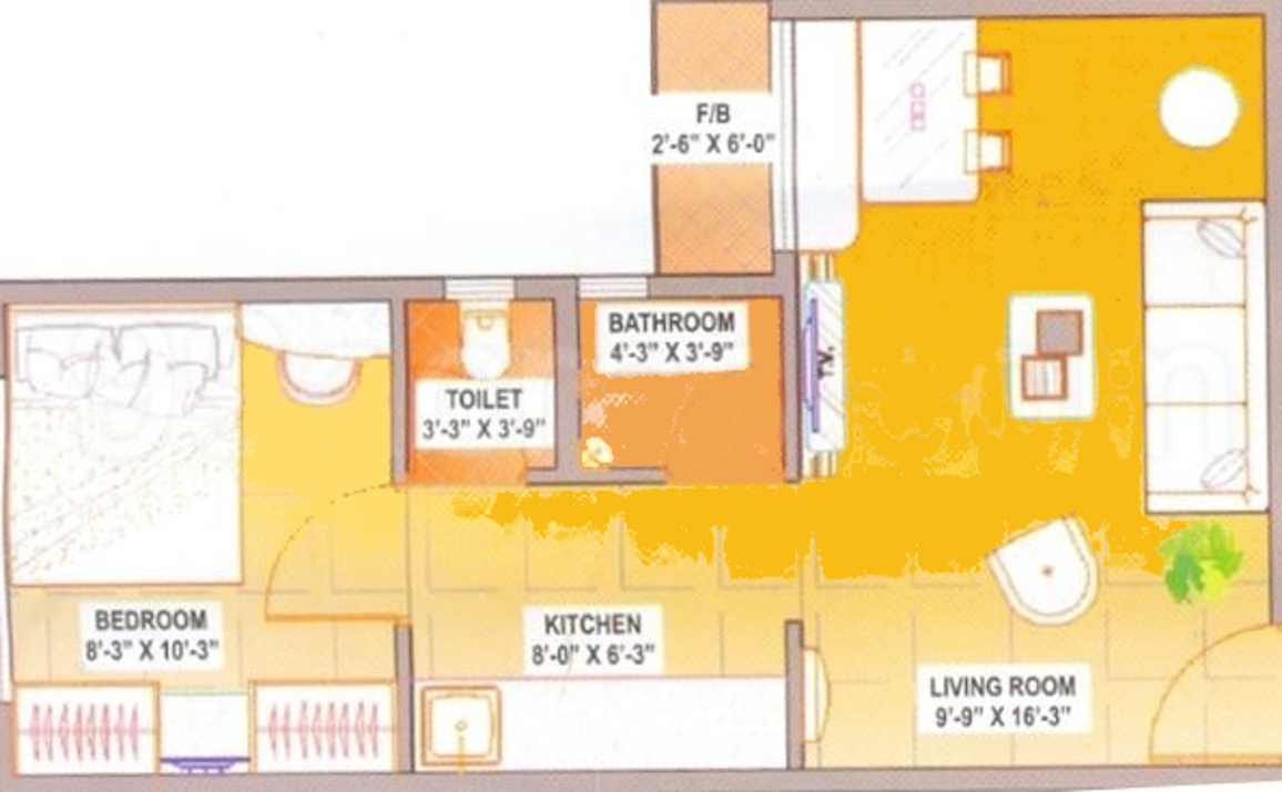 525 sq ft 1 bhk 2t apartment for sale in square arch 525 sq ft apartment
