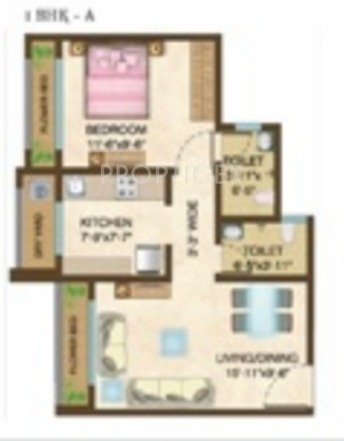640 Sq Ft 1 Bhk 1t Apartment For Sale In Raj Realty Shree