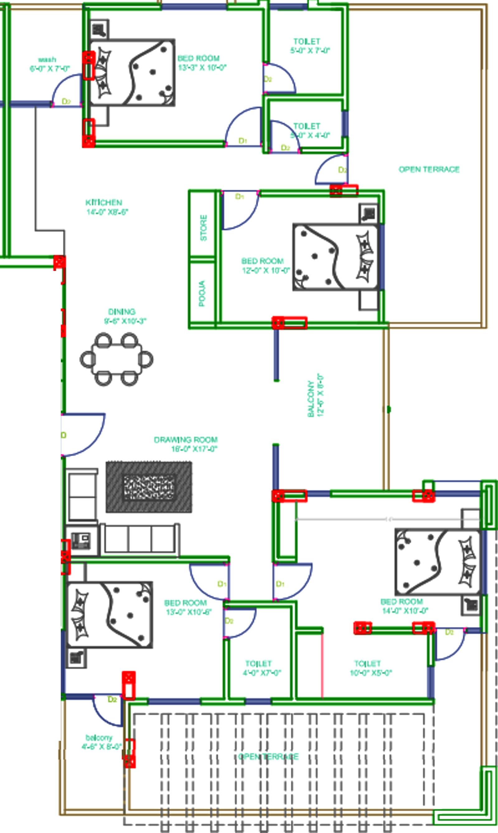 3500 sq ft 4 bhk 4t apartment for sale in shreeji for X2 residency floor plan