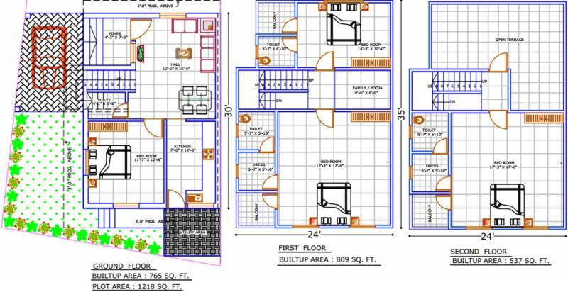 Shreeji Villa (4BHK+4T (2,111 sq ft) 2111 sq ft)