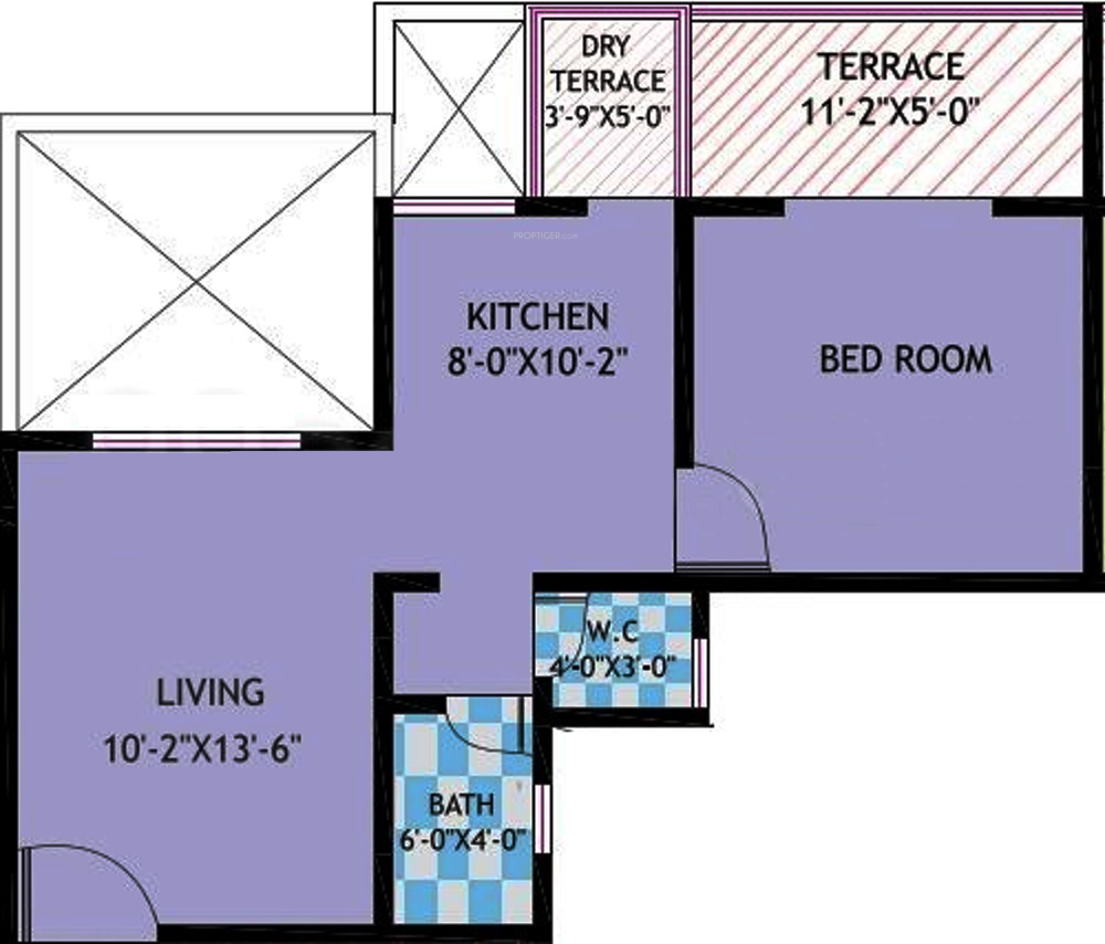 592 sq ft 1 bhk 1t apartment for sale in asha properties for 592 plan