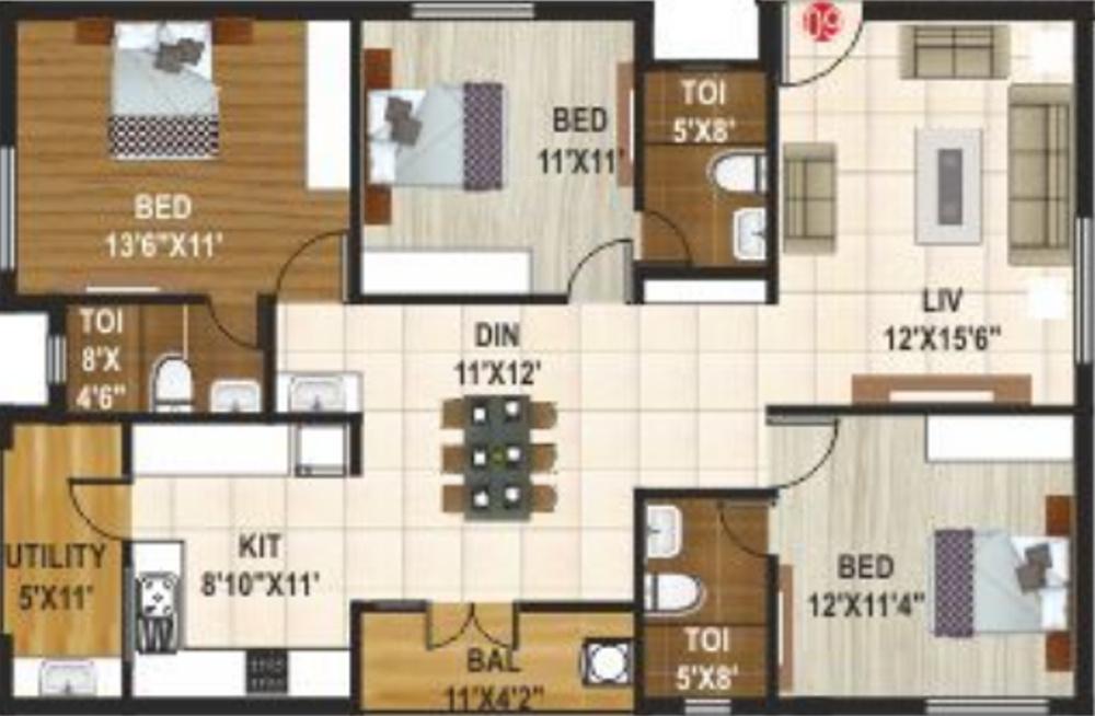 Maruthi homes aecs layout