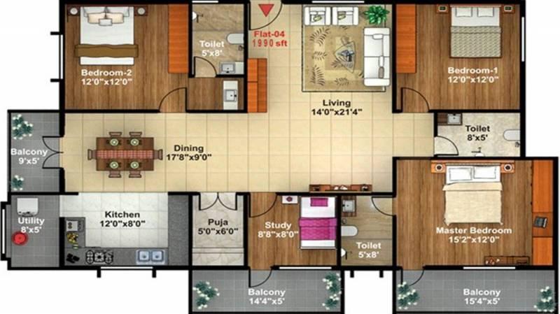 Shreedevi Devin Sri Samruddh Paradise (3BHK+3T (1,990 sq ft) + Study Room 1990 sq ft)