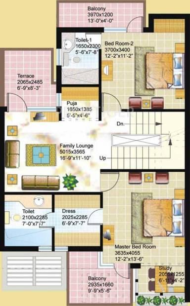 Ansal Florence Villa (3BHK+4T (2,291 sq ft)   Study Room 2291 sq ft)