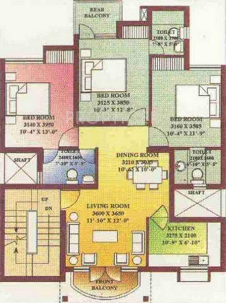 Ansal royale casa in sector 54 gurgaon price location for Casa floor