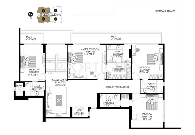 DLF The Crest (5BHK+7T (6,288 sq ft)   Study Room 6288 sq ft)
