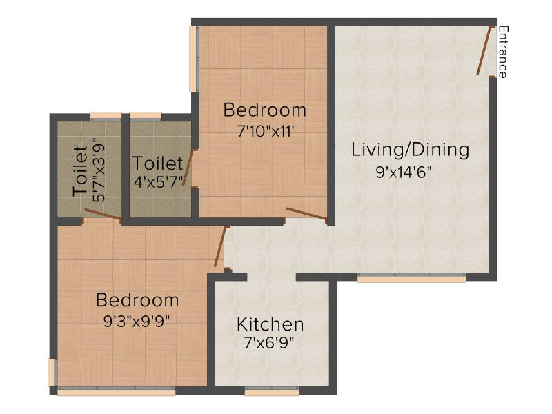 JP Unity Tower (2BHK+2T (720 sq ft) 720 sq ft)
