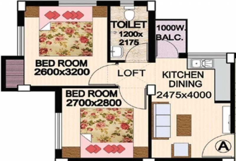 Golden Golden Valley Housing Complex (2BHK+1T (533 sq ft) 533 sq ft)