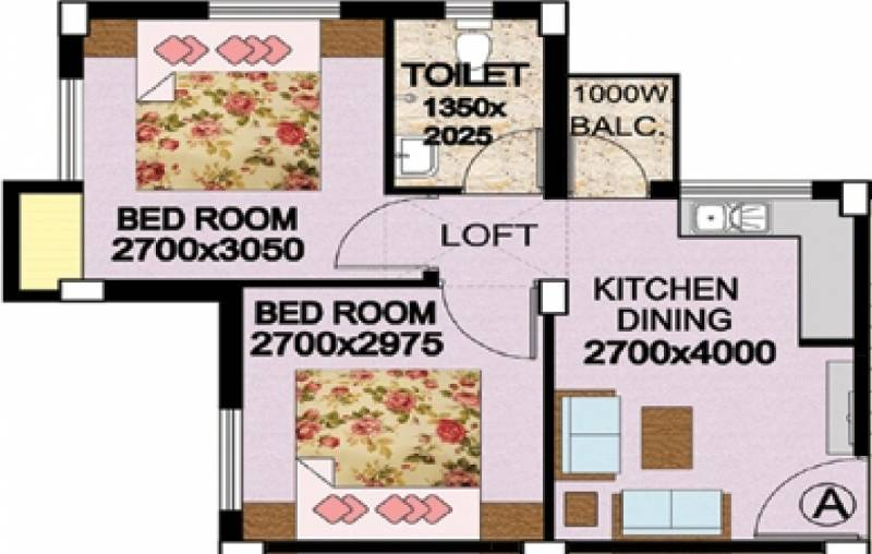 Golden Golden Valley Housing Complex (2BHK+1T (555 sq ft) 555 sq ft)