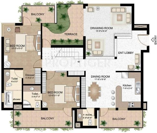 Raheja atlantis in sector 31 gurgaon price location for Atlantis homes floor plans