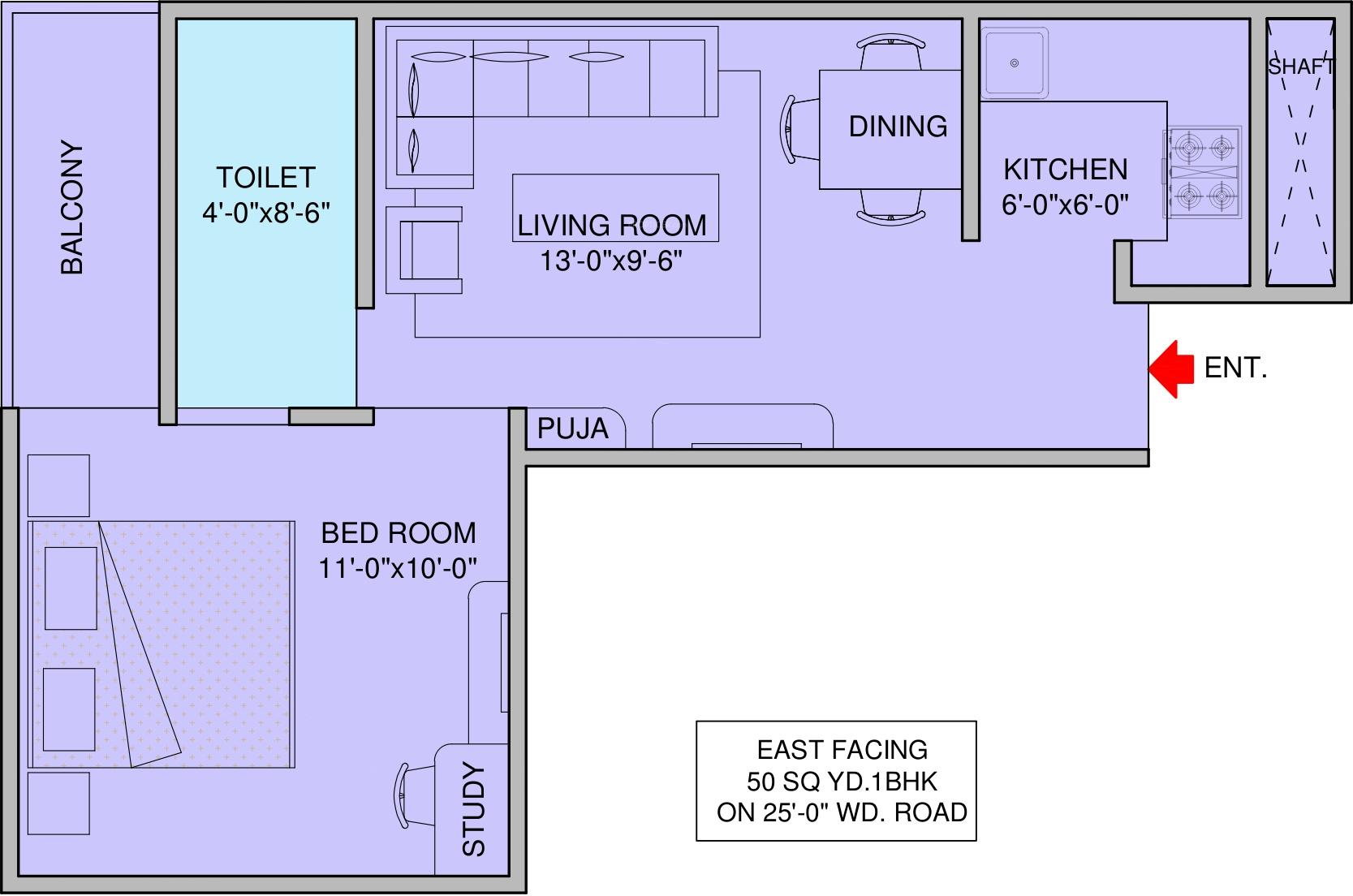450 sq ft 1 bhk 1t apartment for sale in space shapers for 450 square foot apartment floor plan