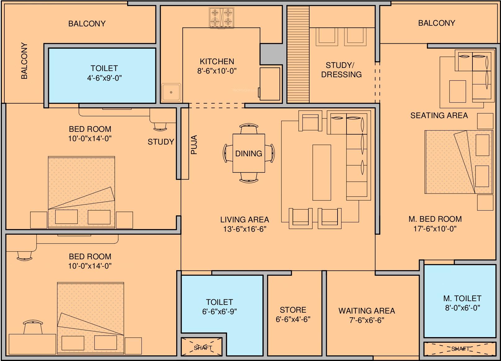 floor plan 1bhk 1t 450 sq ft free home design ideas images 450 sq ft 2 bhk floor plan image deswal shivalik springs