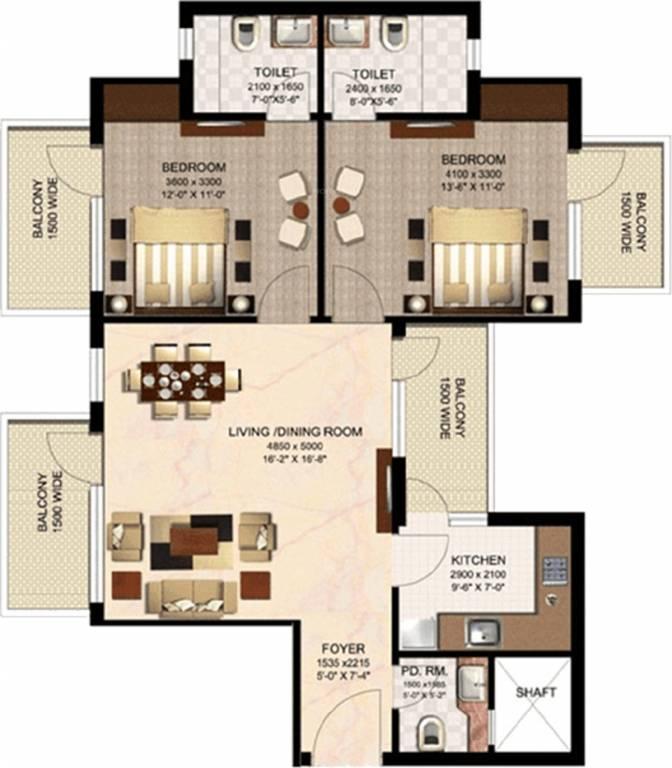 1150 Sq Ft 2 Bhk 2t Apartment For Sale In Mahalakshmi