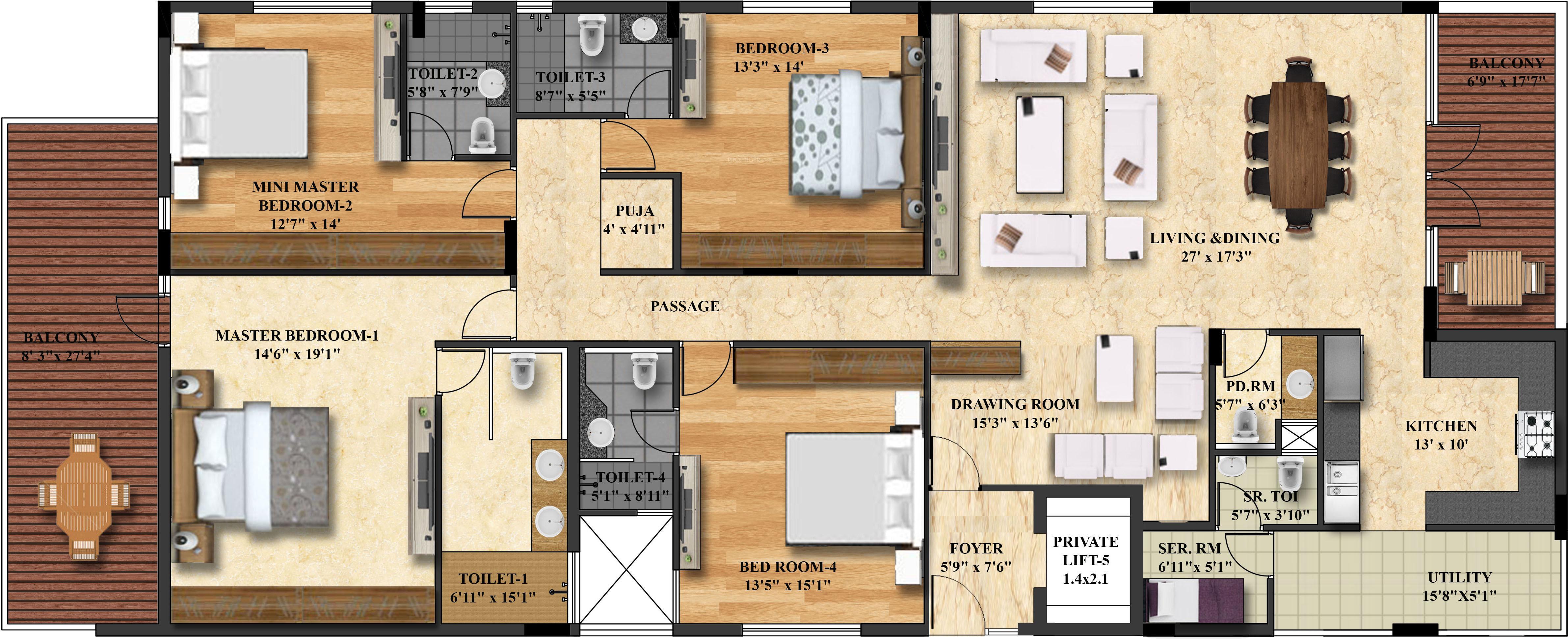 Gar real estate developers amali in banjara hills for Real estate floor plan pricing