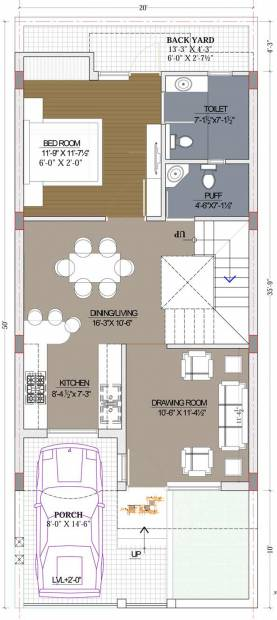 Pinkwall Villa 55 (3BHK+3T (1,750 sq ft) 1750 sq ft)