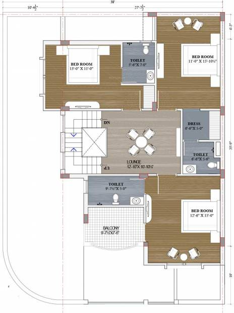 Pinkwall Villa 55 (5BHK+5T (2,296 sq ft) 2296 sq ft)