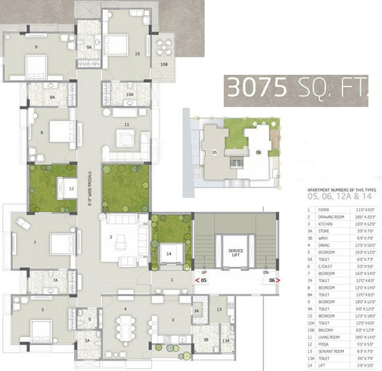 3075 Sq Ft 5 Bhk 6t Apartment For Sale In Rajyash Richmond