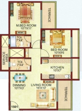 1120 sq ft 2 bhk 2t apartment for sale in pruthvi builders for 1120 westchester place floor plan