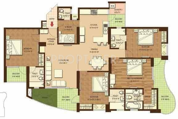 2700 sq ft 4 bhk floor plan image dasnac the jewel of for 2700 sq ft house plans