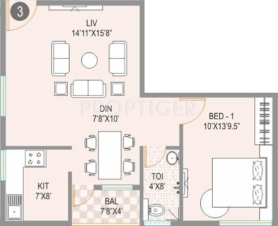 770 Sq Ft 1 Bhk 1t Apartment For Sale In Jana Jeeva
