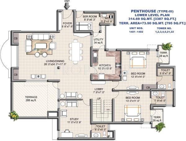 Vipul Greens (5BHK+5T (3,387 sq ft) + Study Room 3387 sq ft)