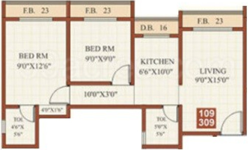 380 sq ft 1 bhk 1t apartment for sale in shantee group for 380 square feet floor plan