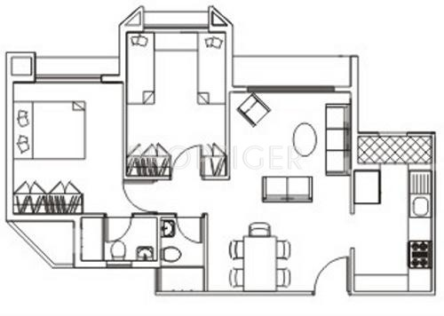 Bredco viceroy court in kandivali east mumbai price for Real estate floor plan pricing