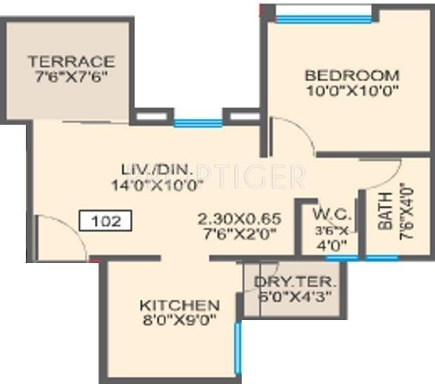 Essen Aishwaryam Courtyard (1BHK+1T (623 sq ft) 623 sq ft)