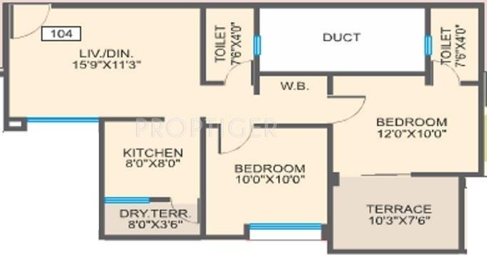 Essen Aishwaryam Courtyard (2BHK+2T (888 sq ft) 888 sq ft)