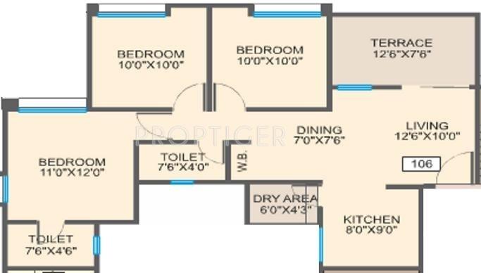 Essen Aishwaryam Courtyard (3BHK+2T (1,070 sq ft) 1070 sq ft)