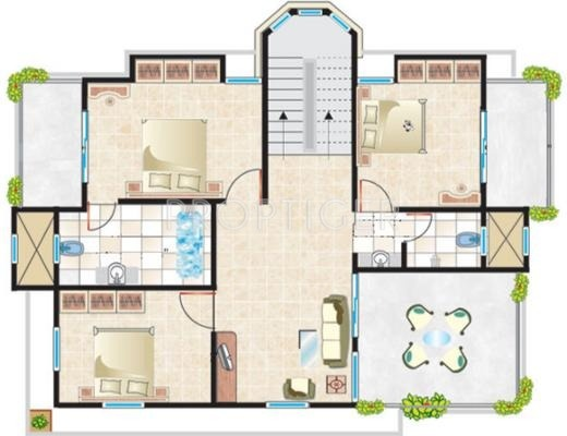 2150 Sq Ft 3 Bhk 2t Villa For Sale In Cosmos Group