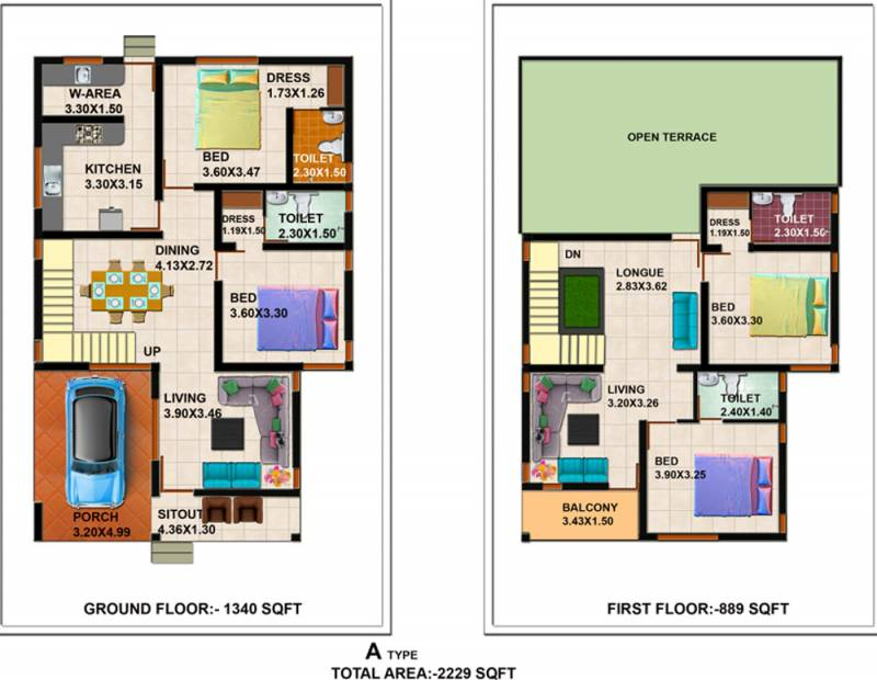 Shanoor Willows (4BHK+4T (2,229 sq ft) 2229 sq ft)