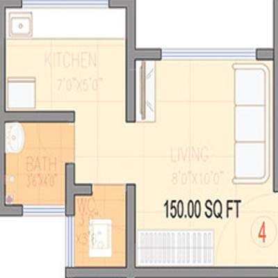 661 Sq Ft 2 Bhk 2t Apartment For Sale In Benchmark Group