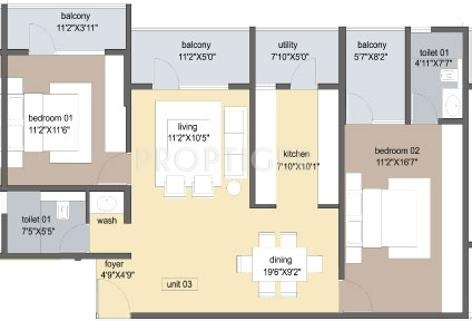 Axis Tuscan Terraces (2BHK+2T (1,575 sq ft) 1575 sq ft)