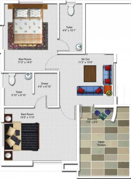 Fortune Home (3BHK+3T (1,900 sq ft) + Pooja Room 1900 sq ft)