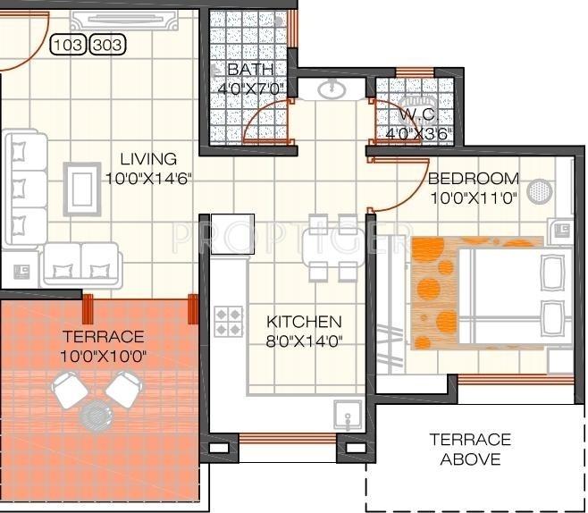 550 sq ft 1 bhk 1t apartment for sale in shree devi group la royale undri pune. Black Bedroom Furniture Sets. Home Design Ideas