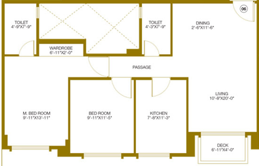 1230 sq ft 2 bhk 2t apartment for sale in hiranandani for Castle rock floor plans