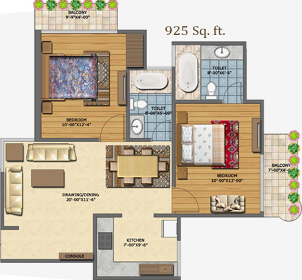 925 Sq Ft 2 Bhk 2t Apartment For Sale In Abp Housing