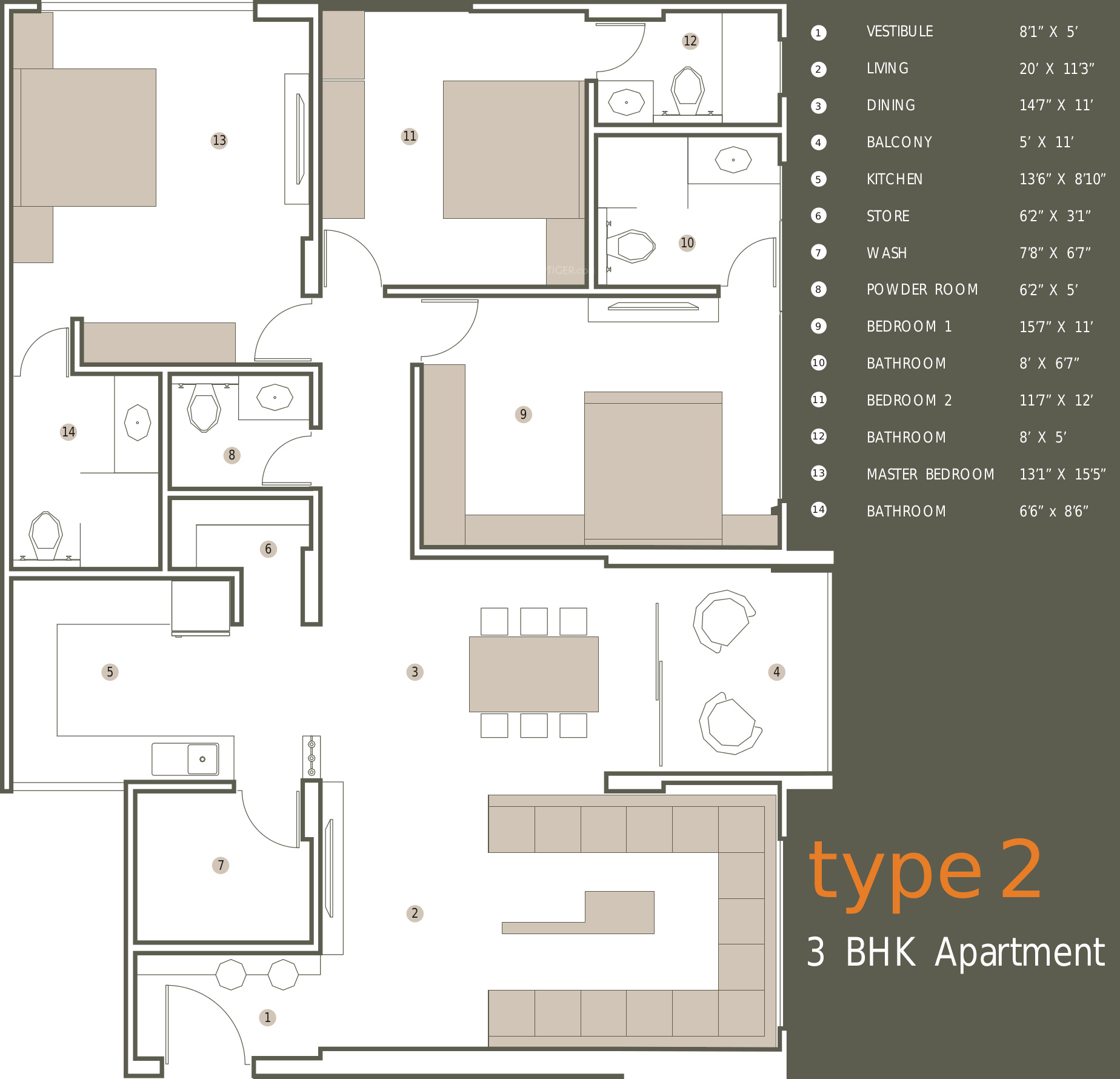 Olive brick home in gulbai tekra ahmedabad price for Brick home floor plans