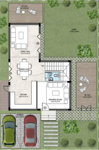 Sark Garden Villas (3BHK+4T (2,400 sq ft) 2400 sq ft)