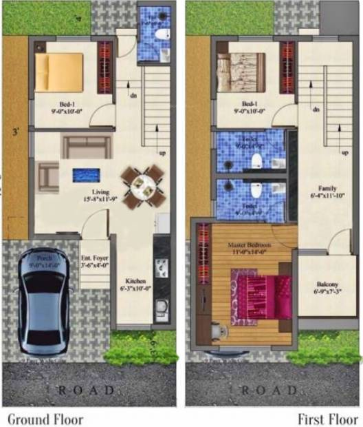Jones Cassia (3BHK+3T (1,388 sq ft) 1388 sq ft)