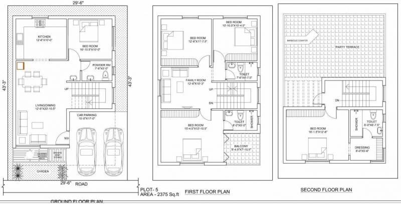 Poomalai The Wind (4BHK+4T (2,375 sq ft)   Study Room 2375 sq ft)