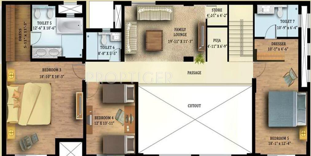 Tata housing raisina residency in sector 59 gurgaon for X2 residency floor plan
