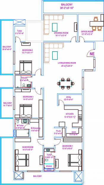 Vasavi Usharam Integra (4BHK+4T (4,785 sq ft) + Pooja Room 4785 sq ft)
