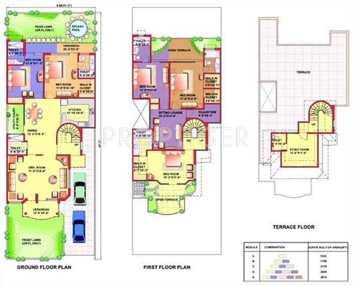 Eldeco Mansionz (5BHK+5T (3,132 sq ft)   Servant Room 3132 sq ft)